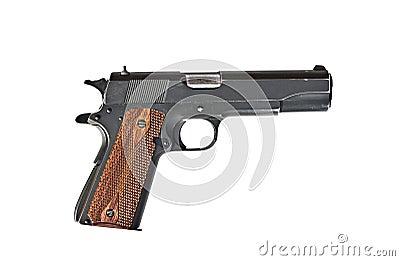 A 45 mm handgun