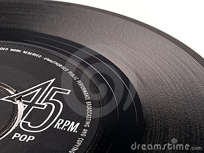 45 rpm vinyl pop record