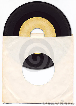 Free 45rpm Vinyl Record With Sleeve Royalty Free Stock Photo - 262805