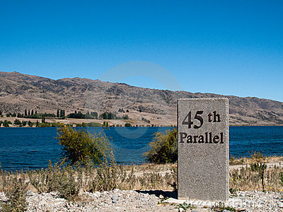 45th parallel in New Zealand