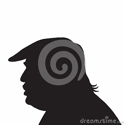 Free 45th President Of The United States Donald Trump Portrait Silhouette Icon Stock Photos - 84151433