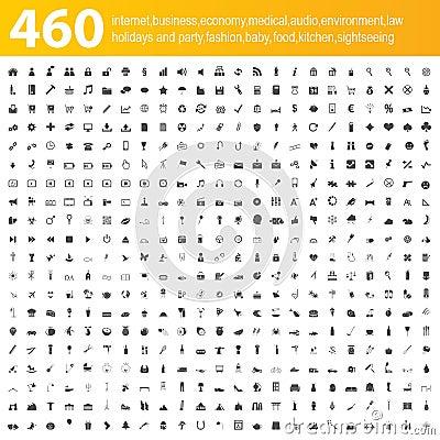 Free 460 Grey Icons Royalty Free Stock Photos - 29535258