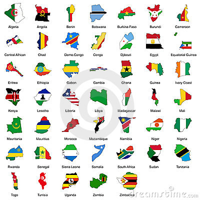 Free 47 African Country Flags Stock Images - 9912334