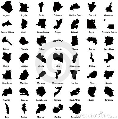 47 African Country Maps