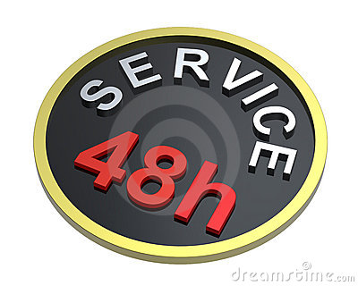 48 hours service sign