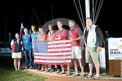 49er Medalists, ISAF World Sailing Cup Editorial Photography