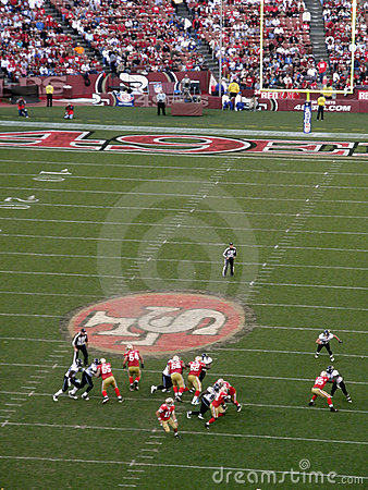49ers in motion during a play against the Jaguars Editorial Stock Image