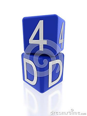 4d blue cubes