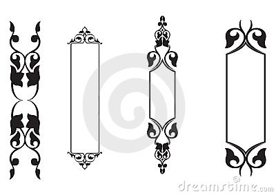 4set classical banner - vector