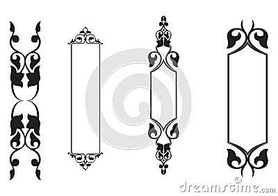 4set classical banner - vector