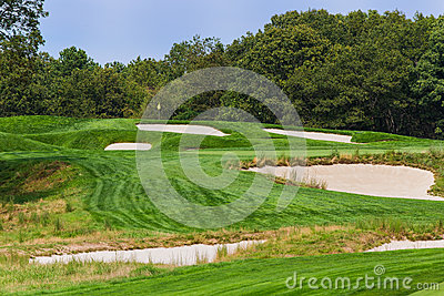 The 4th at Bethpage Black. Editorial Stock Photo