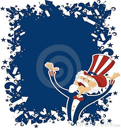 4th july celebration with uncle sam