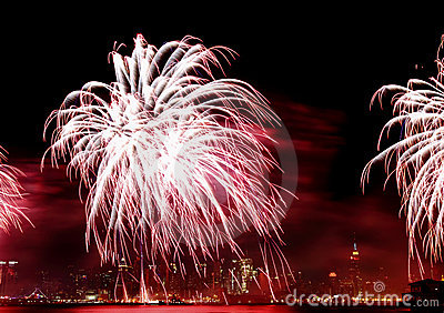 The 4th of July fireworks in NYC
