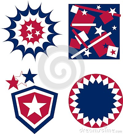 4th of july independence day badge american flag