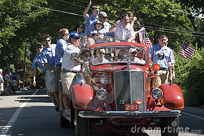 4th of July parade Editorial Stock Image