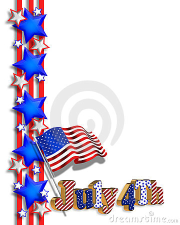 4th of July patriotic border