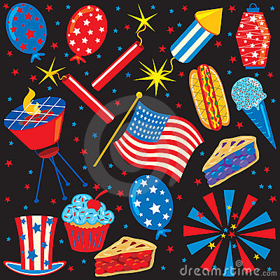 Free 4th Of July Icons And Elements Stock Photography - 13840222