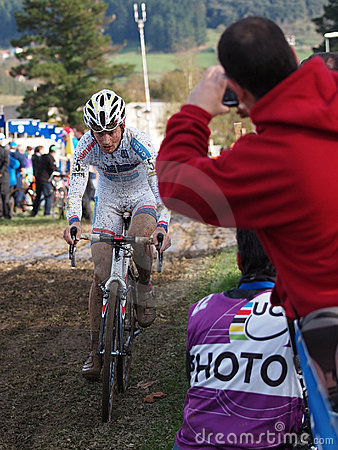 4th round of the 2011-2012 Cyclocross World Cup Editorial Stock Image