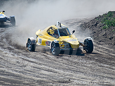 4wd buggy for extreme off-road shot on the track Editorial Stock Photo
