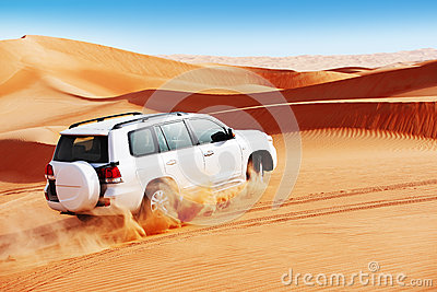 4x4 dune bashing is a popular sport of the Arabian