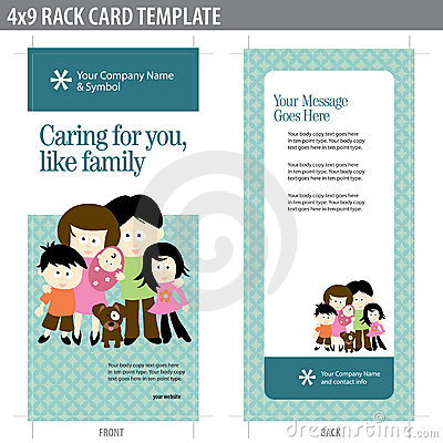 4x9 Rack Card Brochure with family