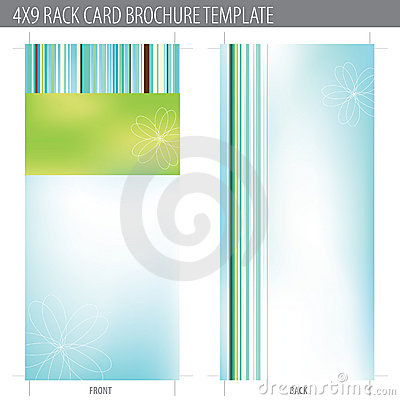 Free 4x9 Rack Card Brochure Template Stock Photography - 10324312