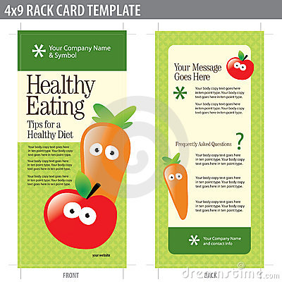 4x9 Rack Card Brochure Template Images Image 8969684 – Health Brochure Template