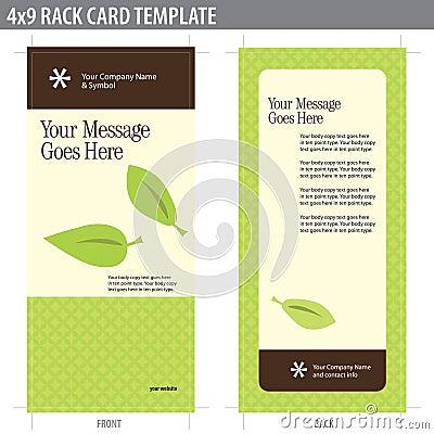 Free 4x9 Rack Card Brochure Template Stock Photos - 8937033