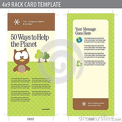 Free 4x9 Rack Card Brochure Template Royalty Free Stock Photos - 8937038