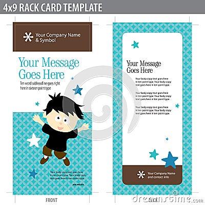 4x9 Rack Card Template