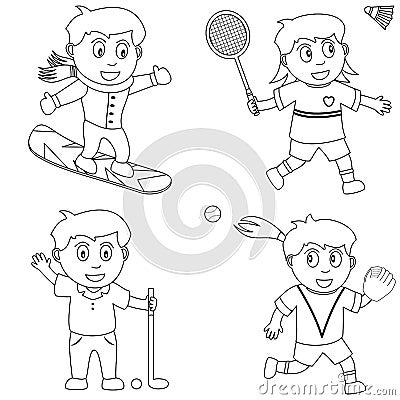 儿童手绘运动图片