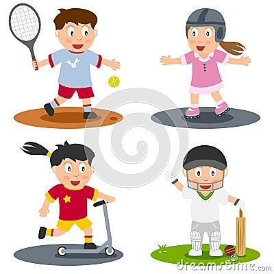 5个收集孩子体育运动