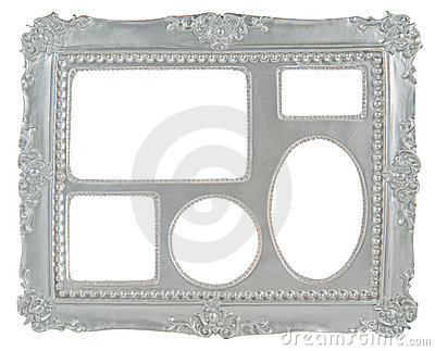 5-in-1 silver gray picture frame