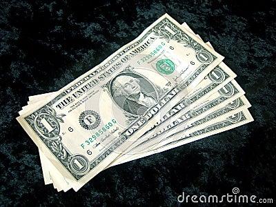 5 Amerikaner-Dollarscheinprestige