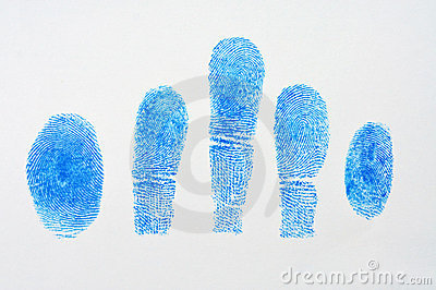 5 Blue fingerprint