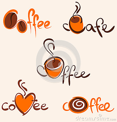Free 5 Coffee Logos And Icons Royalty Free Stock Photo - 9999235