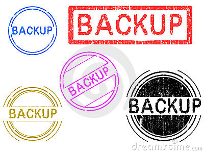 5 Grunge Stamps - Backup