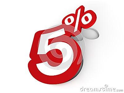 5 Percent sticker