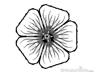 5 Petal Flower Glyph