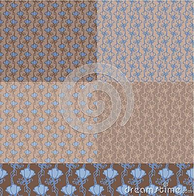 5 Seamless Floral Pattern