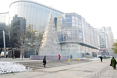 5 square shopping mall in Jinnan,China Editorial Stock Photo