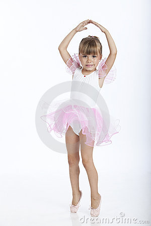5 years old ballerina trying a new ballet position