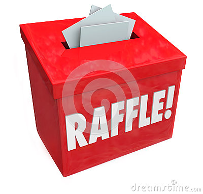 Free 50-50 Raffle Enter To Win Box Drop Your Tickets Stock Photo - 32518630