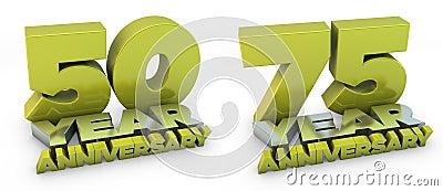 50 and 75 year anniversary