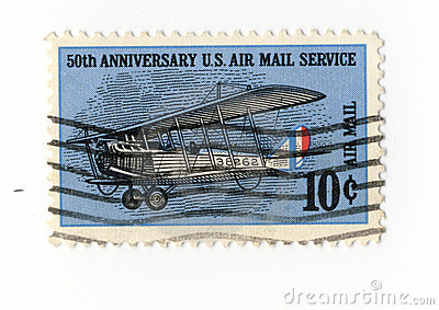 50 anniversary US air mail service stamp