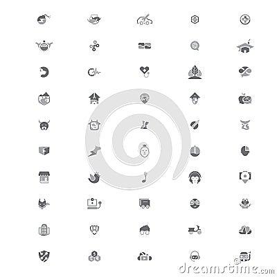 Free 50 Creative Logo Templates V2 Royalty Free Stock Photo - 94755125
