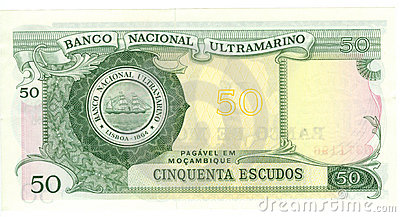 50 escudo bill of Mozambique