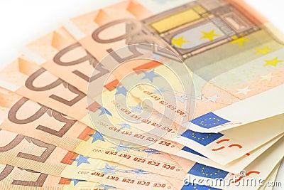 50 Euro bank notes