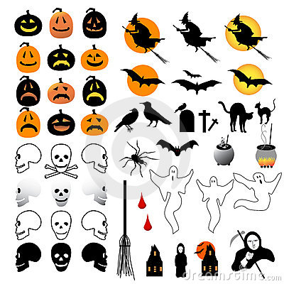 Free 50 Halloween Icons Royalty Free Stock Photography - 6580657