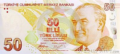 50 Lira banknote front